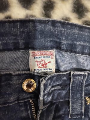 True Religion Stretch jeans blauw