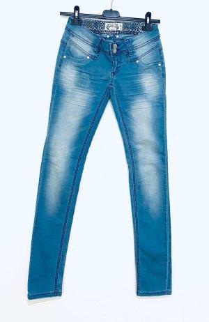 Blue Rags Pantalón elástico multicolor