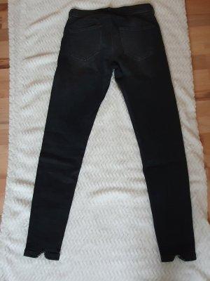 Pantalone elasticizzato nero-antracite