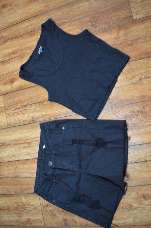 Jeans Hot Pants Gr. 38 von Machine mit Cut