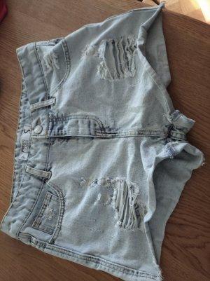 Fishbone Pantaloncino di jeans blu pallido