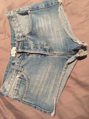 Jeans Hotpants , Forever 21, Glitzerknopf, 27 (S)