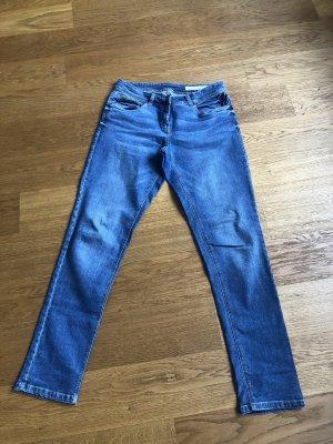 Blue Motion Jeansy z prostymi nogawkami stalowy niebieski