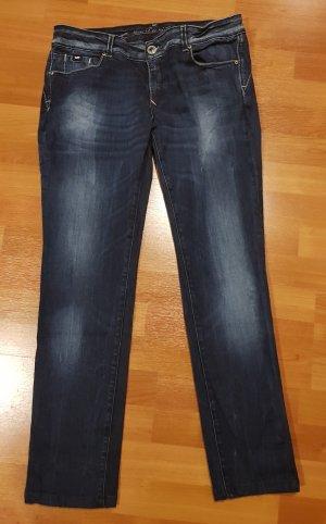 Gas Jeans coupe-droite bleu foncé
