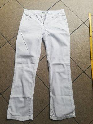 Pantalon boyfriend blanc