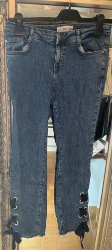 Mango Jeansy z prostymi nogawkami niebieski