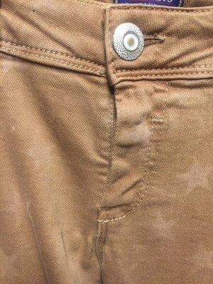 Conleys Blue Spodnie z pięcioma kieszeniami jasnobrązowy-kremowy Denim