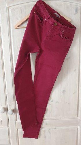 Mint&berry Jeans cigarette rouge foncé-bordeau