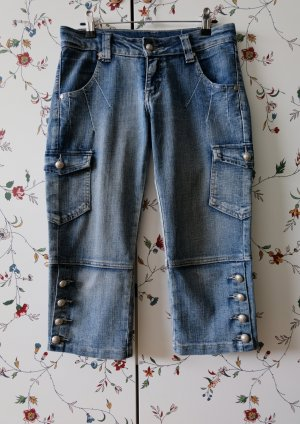 3/4 Length Jeans blue cotton