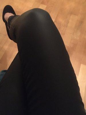 Jeans in Lederoptik
