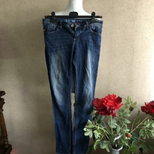 Jeans a sigaretta multicolore