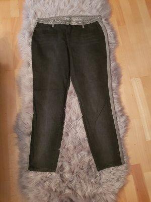 Alba Moda Jeansy z prostymi nogawkami czarny-szary