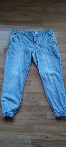 Rainbow Workowate jeansy jasnoniebieski Bawełna