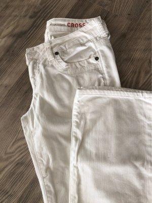 CROSS JEANS Jeansy z prostymi nogawkami biały
