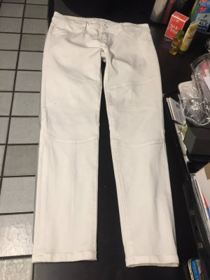 DL Sport Low Rise Jeans white cotton