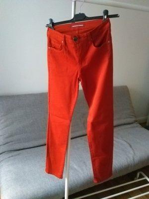 Jeans in Zigarettenform mit Pfirsichhauteffekt, rust