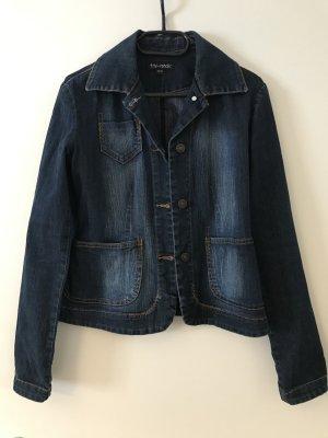 Tita Conchi Marynarka jeansowa ciemnoniebieski Bawełna