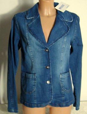 Jeans Jacke Blazer Größe 38 Stretch Blau