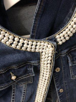 0039 Italy Jeans stretch bleu acier coton