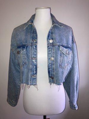 Jeans Jacke -Crop Oversize