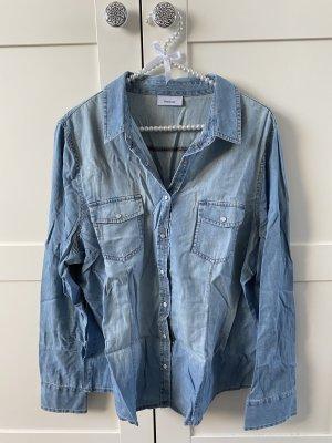 C&A Yessica Jeansowa koszula stalowy niebieski Bawełna