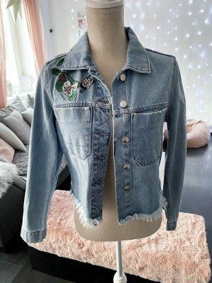 Jeans Jacke im Boho Stil