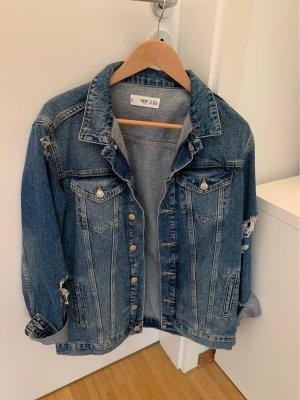 Jeans Jacke im Used-Look