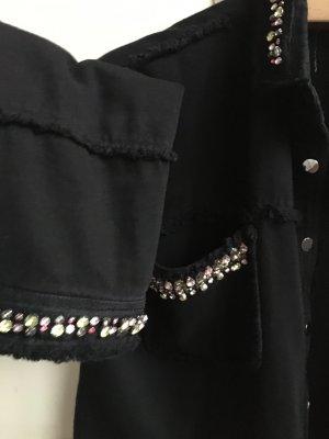 Jeans Jacke mit Steine Zara