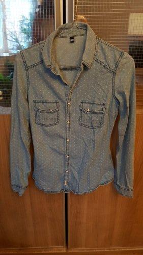 Jeans Jeanshemd blau Casual-Look Gr.34