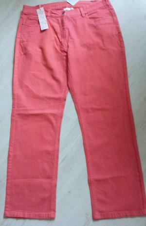 Giada Pantalone a sigaretta rosso mattone Cotone
