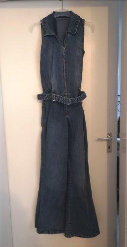 Jeans Jumpsuit mit Gürtel