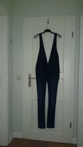Jeans-Jumpsuit Overall Jumpsuit Latz-Jeans Trägerhose Jeans Gr. 40