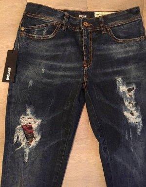 Cavalli Skinny jeans donkerblauw Katoen