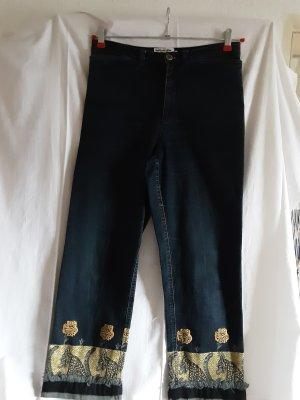Kejzar's Cotton Line Vaquero elásticos azul oscuro Algodón