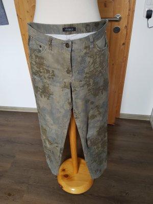 Vivance Hoge taille jeans khaki