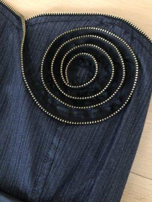 Jeans-Kleid, Bandeau, Gr. XS/S, wie neu