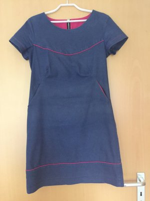 Sheath Dress steel blue-neon pink