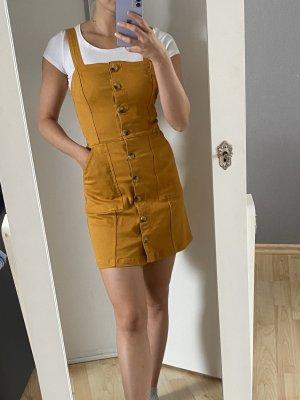 H&M Jeansowa sukienka piaskowy brąz-złotopomarańczowy