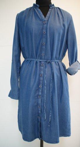 Promod Vestido vaquero azul acero lyocell