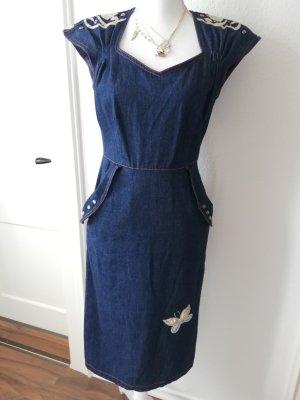Jeans Kleid, Vintage Kleid