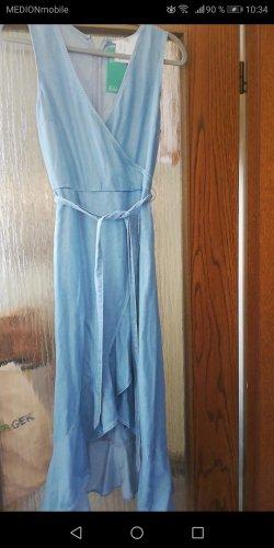 H&M Vestito vokuhila azzurro