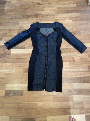 Replay Jeansowa sukienka czarny-ciemnoniebieski