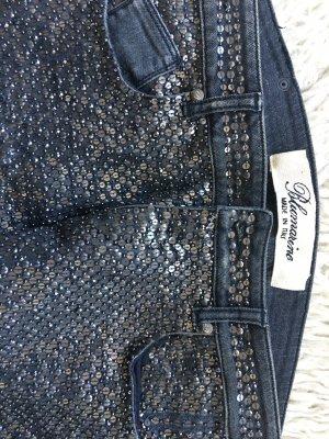 Jeans komplett mit  Pailletten bestickt von Blumarine