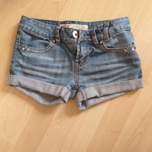 Only Short en jean bleu acier-bleuet