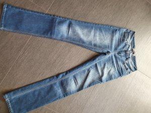 4Wards Pantalone da cavallo blu acciaio-blu fiordaliso