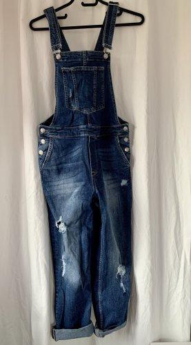 H&M Divided Jeans met bovenstuk korenblauw-staalblauw Katoen