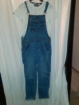 American Eagle Outfitters Salopette en jeans gris ardoise