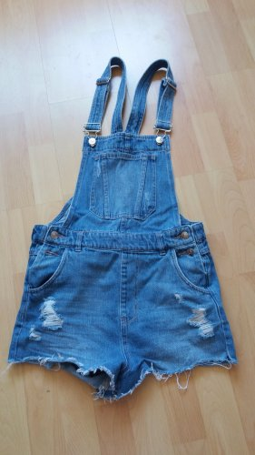 H&M Divided Bib Denim azure mixture fibre