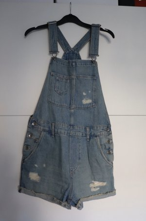 Jeans Latzhose im wasted Look