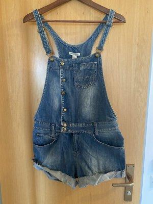 Mango Jeans Salopette en jeans bleu